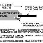 Glass door dimensions