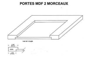 promotion porte MDF 2 morceaux