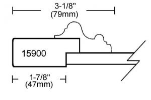 Porte MDF 2 morceaux avec moulure appliquée modele # 15900
