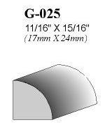 Quart-de-rond G-025