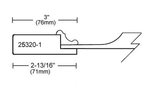 Portes d'armoires en MDF 2 morceaux et moulure appliquee modele 25320-1