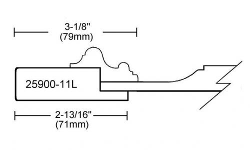 Portes d'armoires en MDF 2 morceaux et moulure appliquee modele 25900-11L