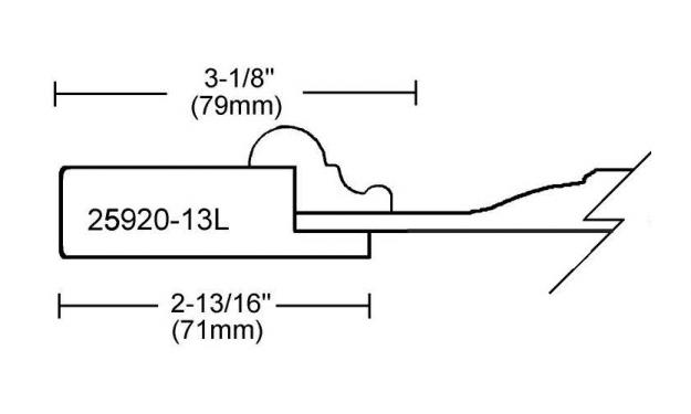 Portes d'armoires en MDF 2 morceaux et moulure appliquee modele 25920-13L