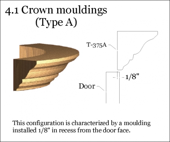 Type A crown moulding