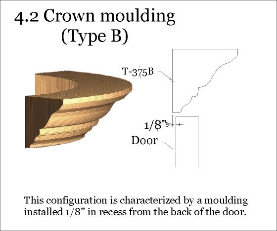 Type B crown moulding