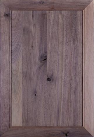 Walnut rustic cabinet door