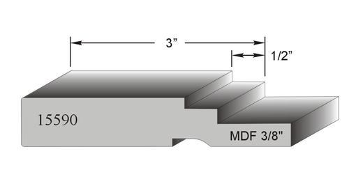 profil de porte MDF modele 15590