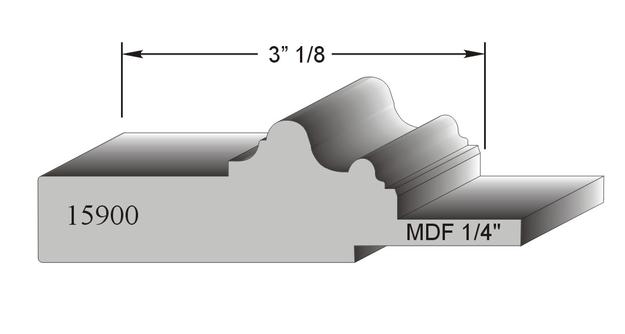 profil de porte MDF modele 15900