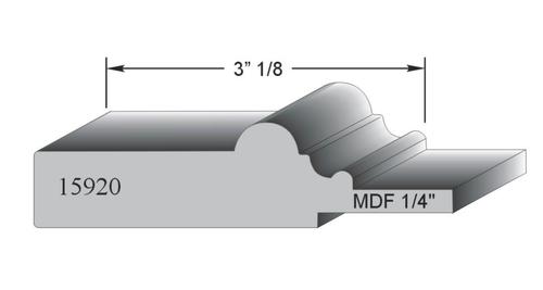 profil de porte MDF modele 15920