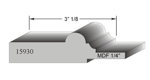profil de porte MDF modele 15930