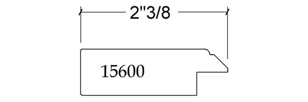 Porte MDF 2 morceaux 16500
